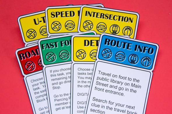 DIY Amazing Race clue card printables
