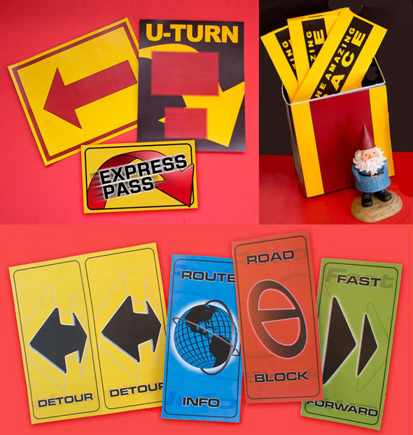 The Amazing Race printable U-Turn Express Pass Arrow Route Marker
