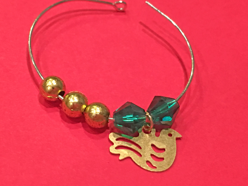 reindeer wine charm holder chica and jo