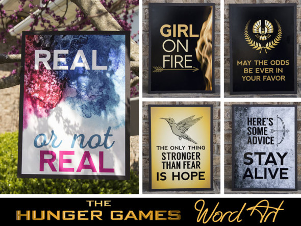 The Hunger Games word art posters