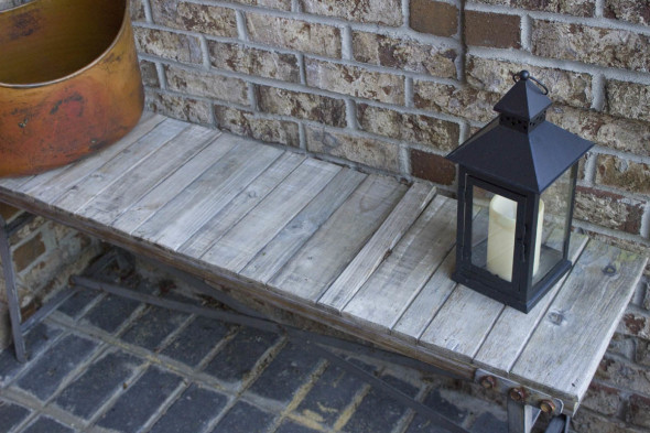 Color Stained Outdoor Bench 1