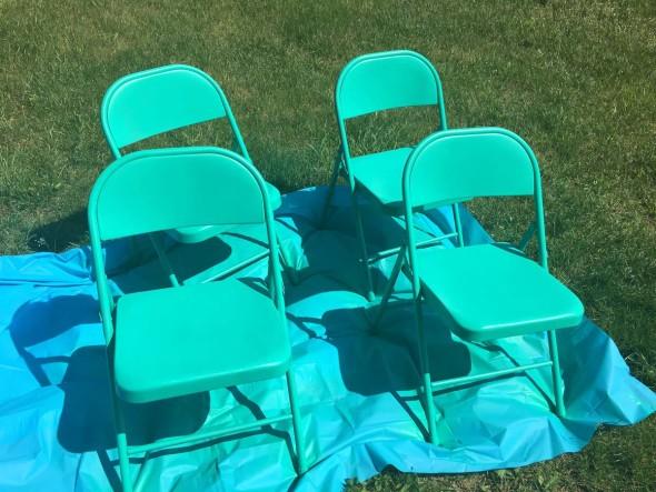 Folding Chair Refinish 4