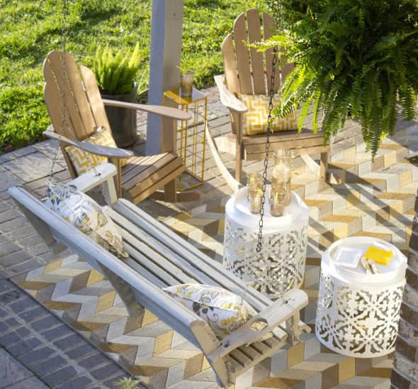 Make Over Of Outdoor Swing And Adirondack Chairs Chica