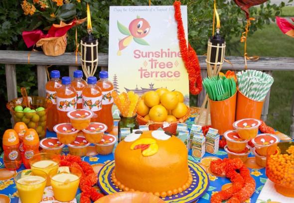 Disney's Orange Bird themed birthday party