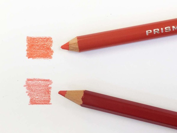 Colored pencil comparison
