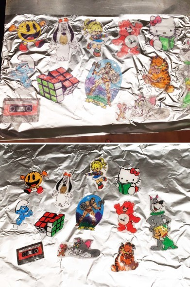 Shrinky Dink Christmas ornaments