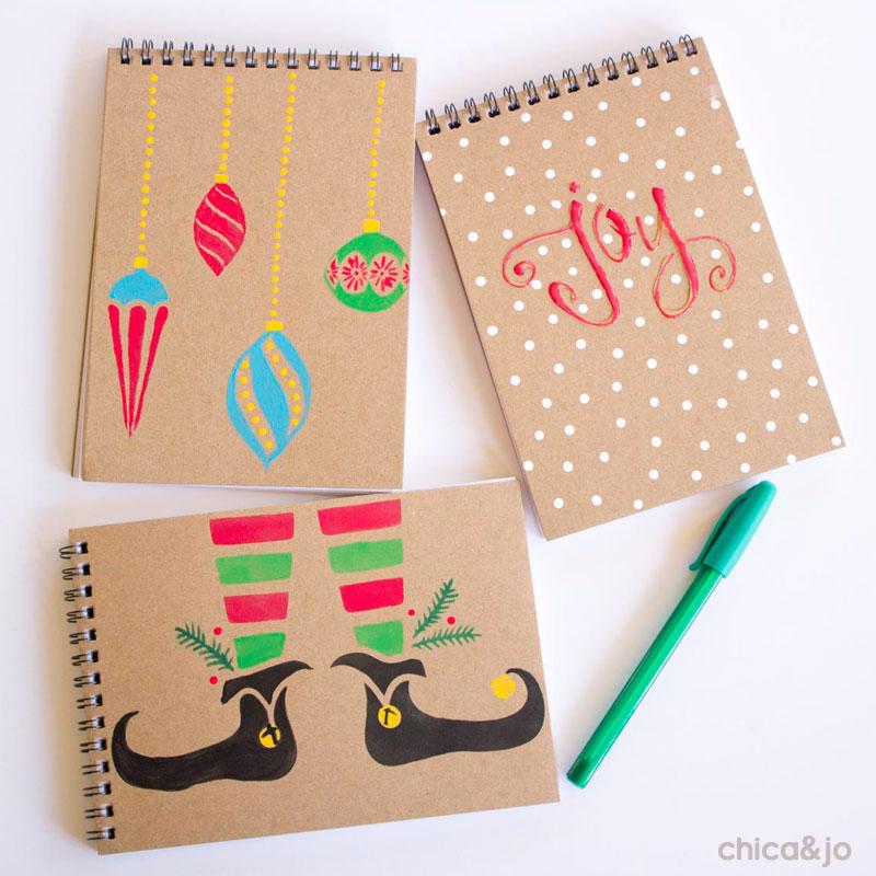 Teacher gift Christmas notebooks | Chica and Jo