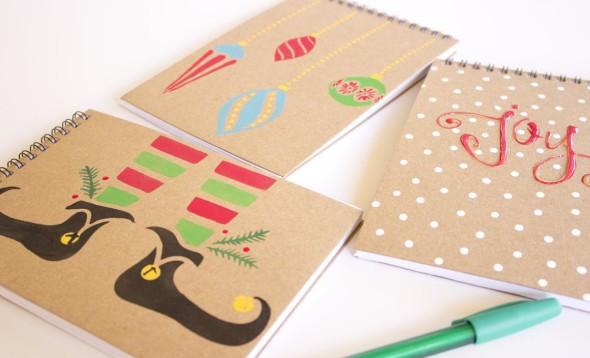 Teacher gift Christmas notebooks