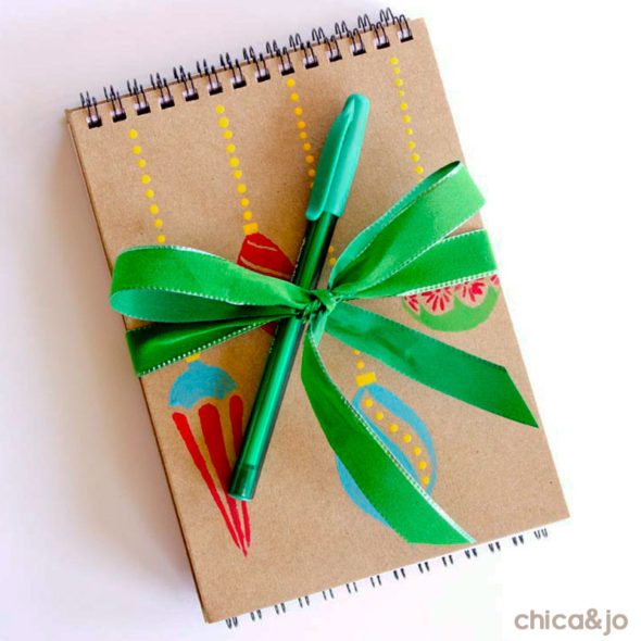 Christmas notebooks to give as a teacher gift.