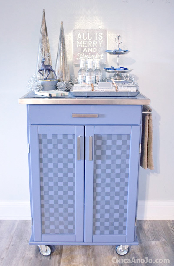 buffalo checked kitchen cart makeover