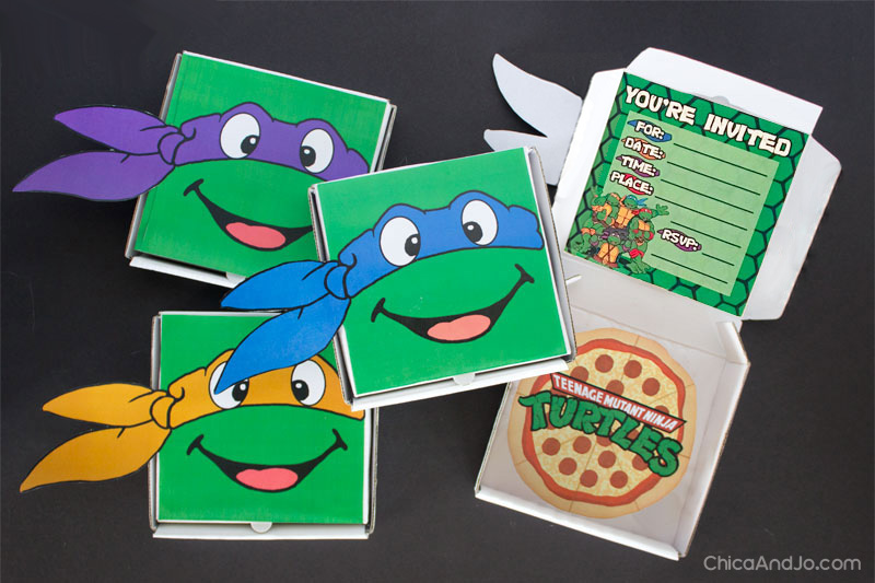 Teenage Mutant Ninja Turtles Party Favors And Invitations Chica And Jo