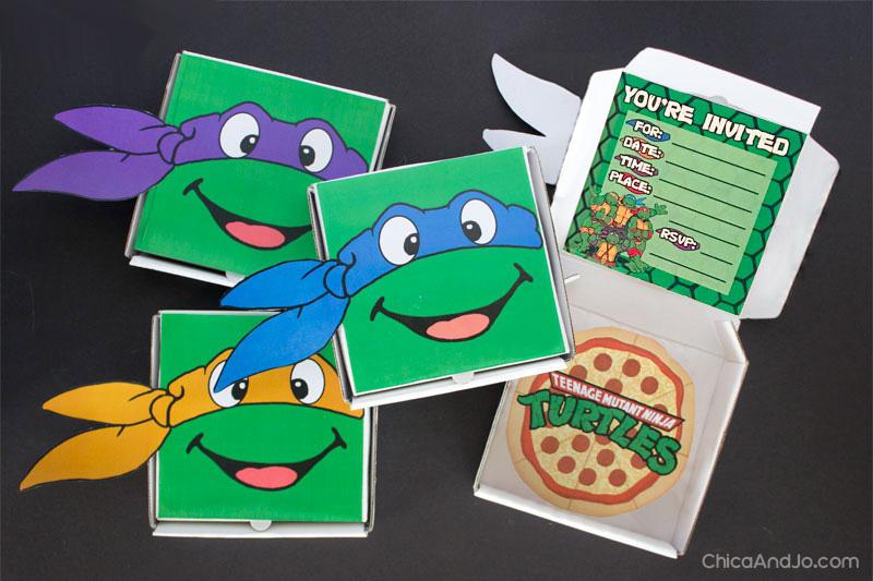 Teenage Mutant Ninja Turtles Party Favors And Invitations