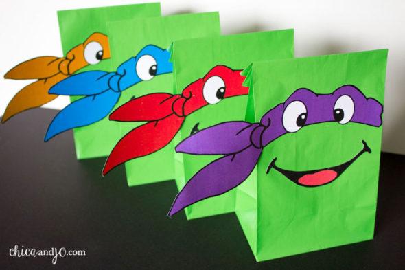 TMNT Teenage Mutant Ninja Turtles party favor bags