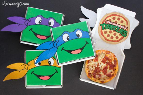 TMNT Teenage Mutant Ninja Turtles party mini pizzas