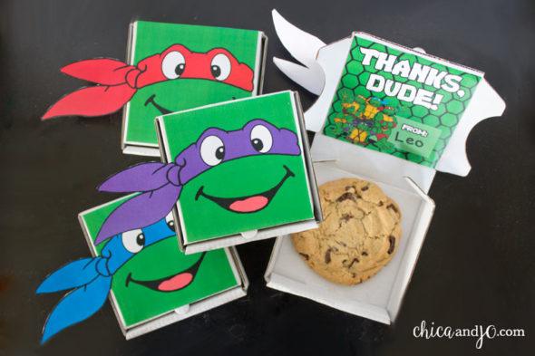 TMNT Teenage Mutant Ninja Turtles cookie favor box