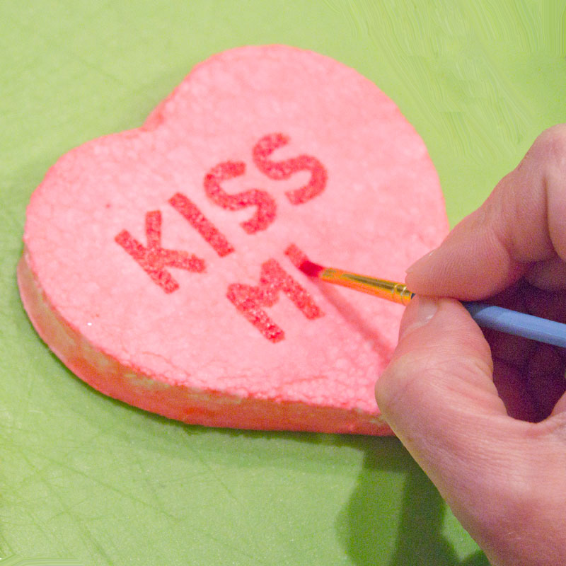 Valentine's Day Rice Krispies treats conversation hearts ...