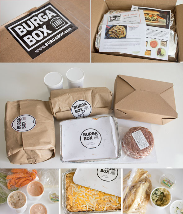 BurgaBox meal delivery kit