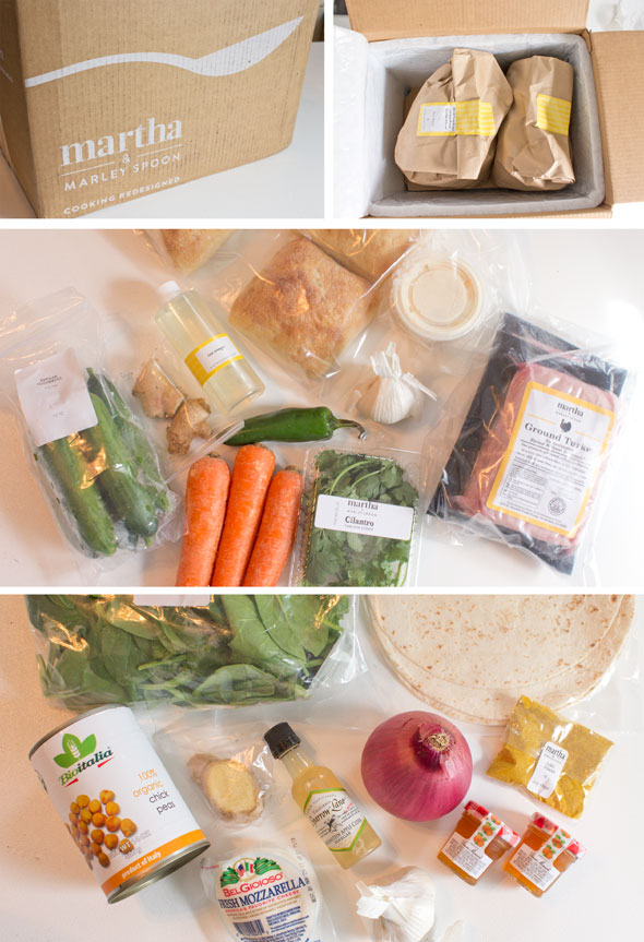 Martha and Marley Spoon meal delivery kit