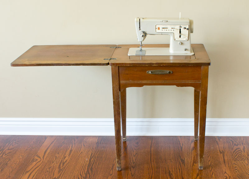 diy makeover sewing desk furniture inspirations salvaged painted
