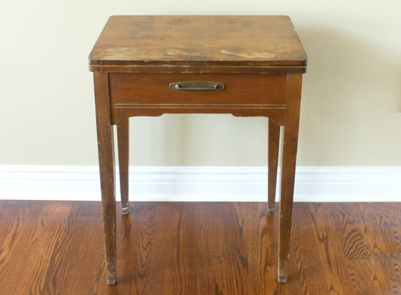 Turn A Sewing Table Into A Bar Cart Chica And Jo Classy Sewing Machine Bar Cart