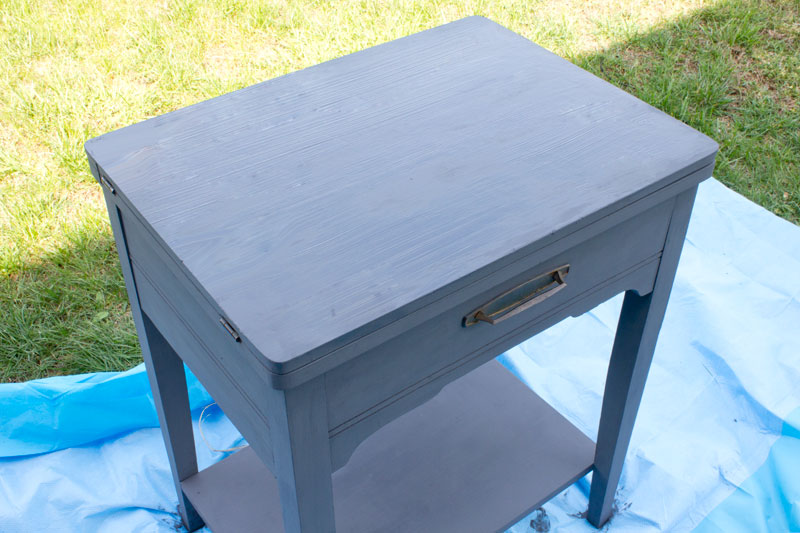 Turn A Sewing Table Into A Bar Cart Chica And Jo Awesome Sewing Machine Bar Cart