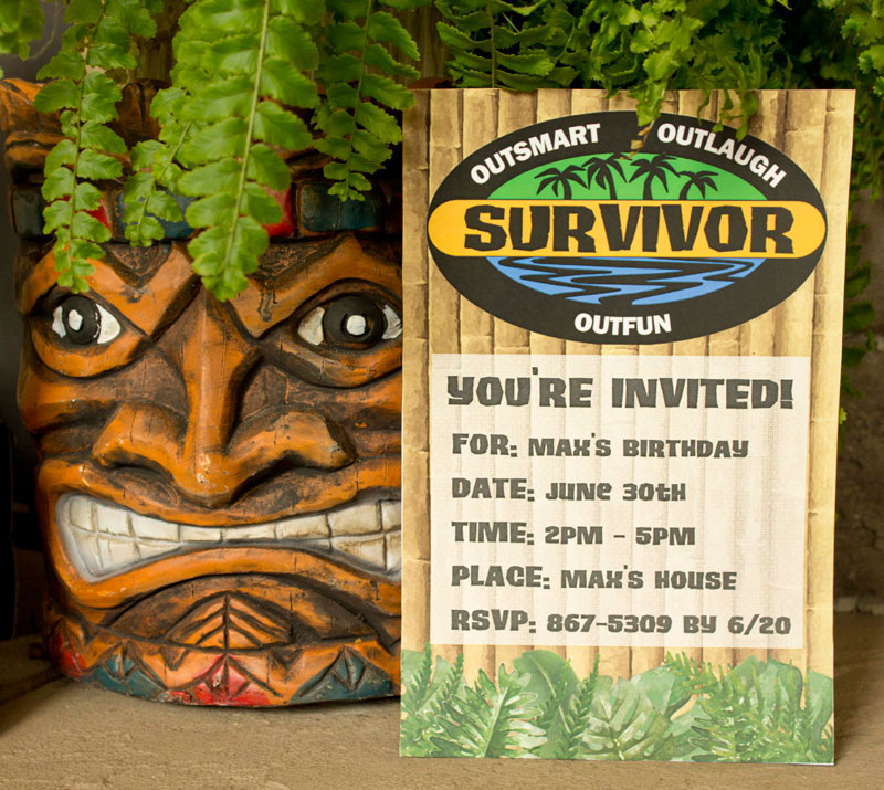 Survivor Party Printables Chica And Jo