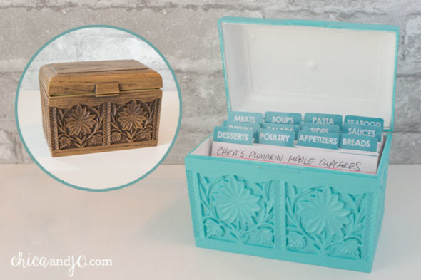 Decorative Recipe Boxes Captivating Vintage Recipe Box Makeover  Chica And Jo Design Ideas