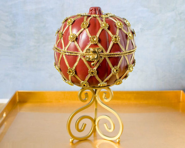 Faberge inspired pumpkin treat box