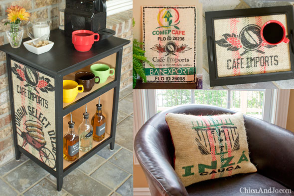 DIY Home Decor Projects Using Burlap Coffee Sacks