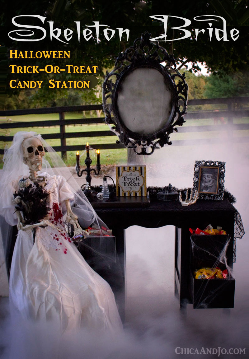 Skeleton Bride Halloween Trick Or Treat Station Chica And Jo