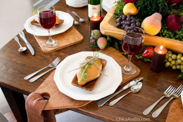 DIY rustic cutting board placemats