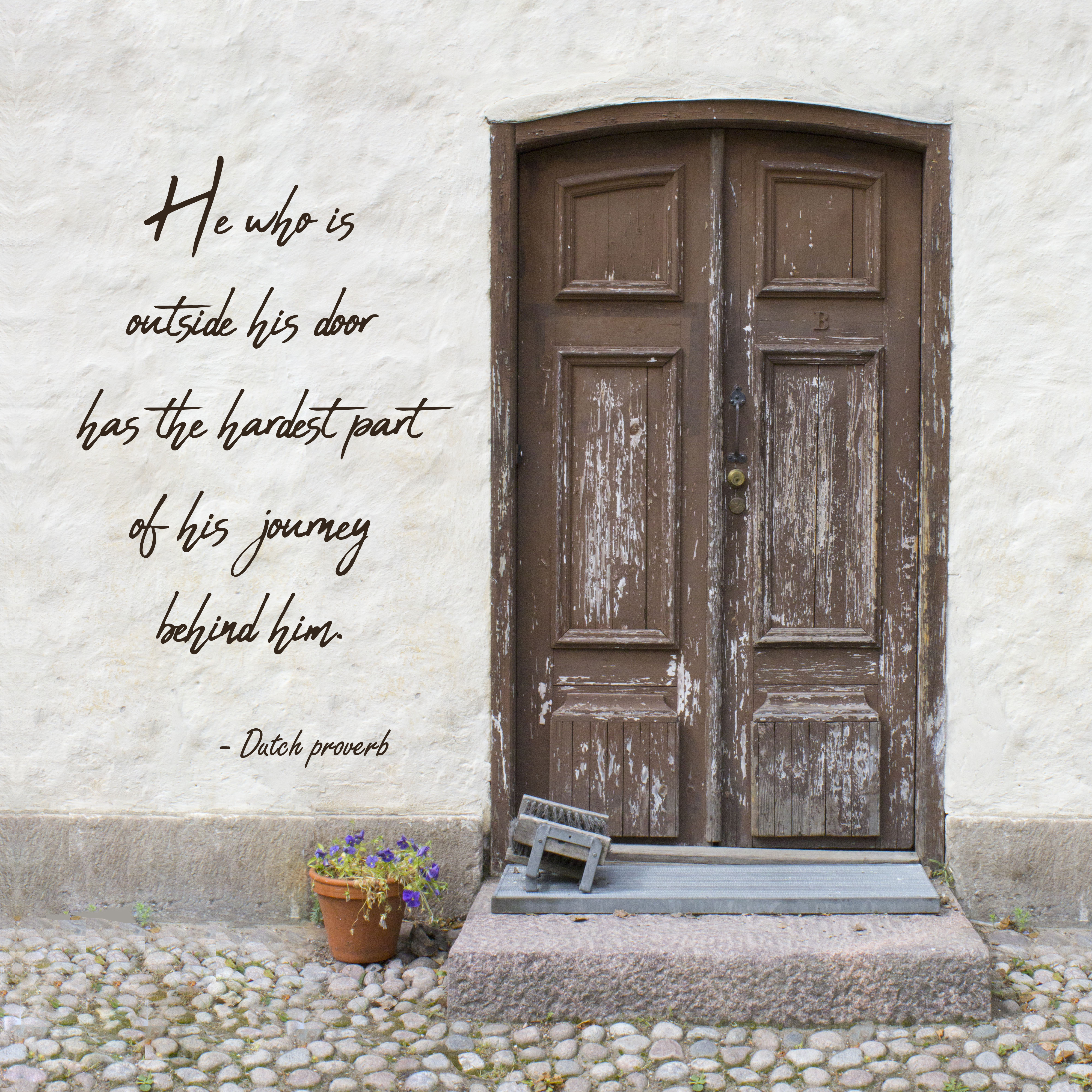 Download and print our free travel word art in either ... & Inspirational travel quote print with European door | Chica and Jo