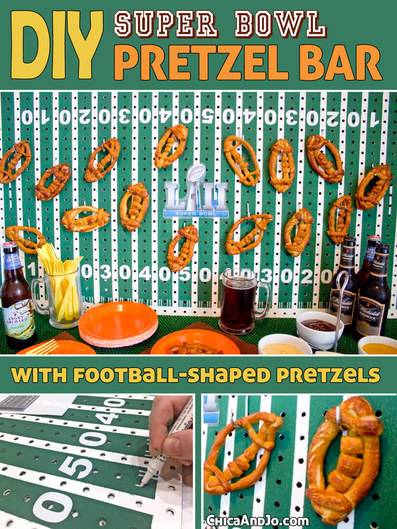 Pretzel Bar For A Super Bowl Party Chica And Jo