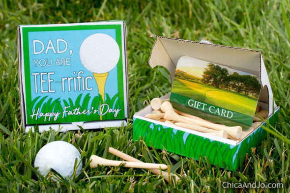 Father\'s Day golf gift card holder | Chica and Jo
