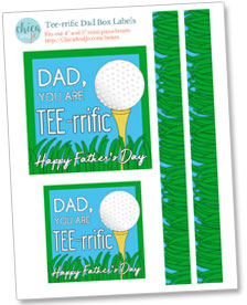 Father's Day golf gift card holder