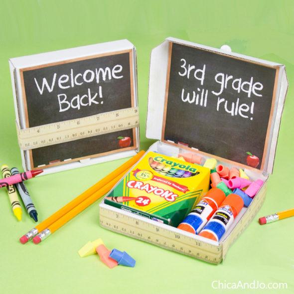 Back to school and teacher appreciation favor box printables