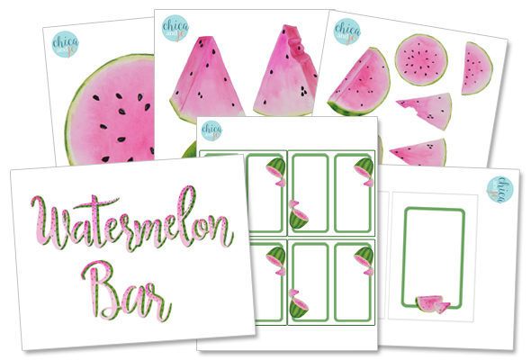 image regarding Watermelon Printable identified as Watermelon bar bash printables Chica and Jo