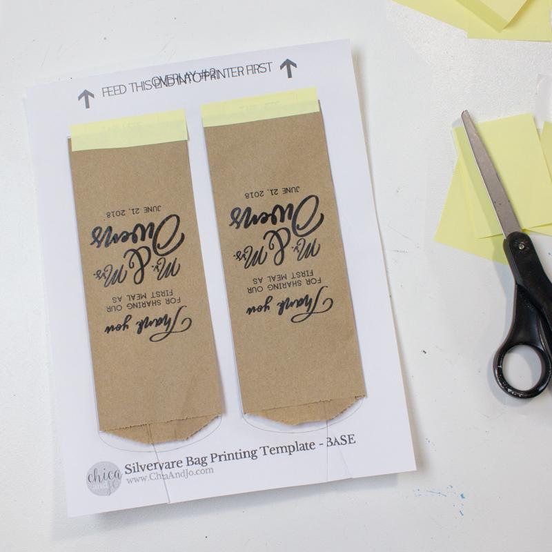 Diy Custom Printed Silverware Bags