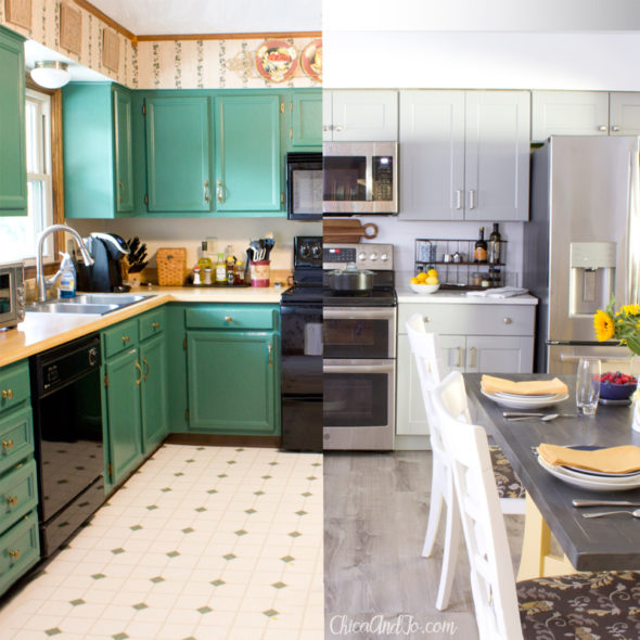 DIY Farmhouse Kitchen Renovation Before And After