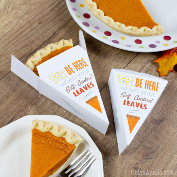 Pie slice box template for Thanksgiving