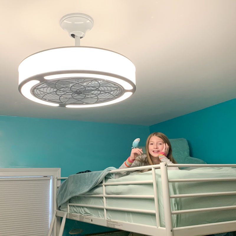 Bunk Bed And Ceiling Fan