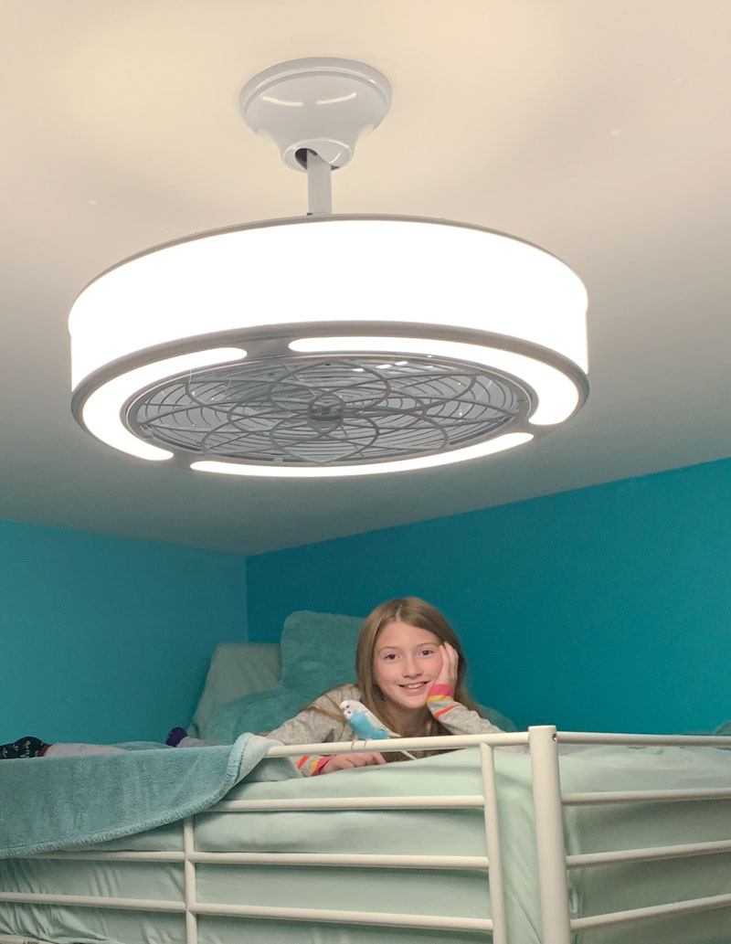 Picture of: Ceiling Fan For Above Bunk Beds Chica And Jo