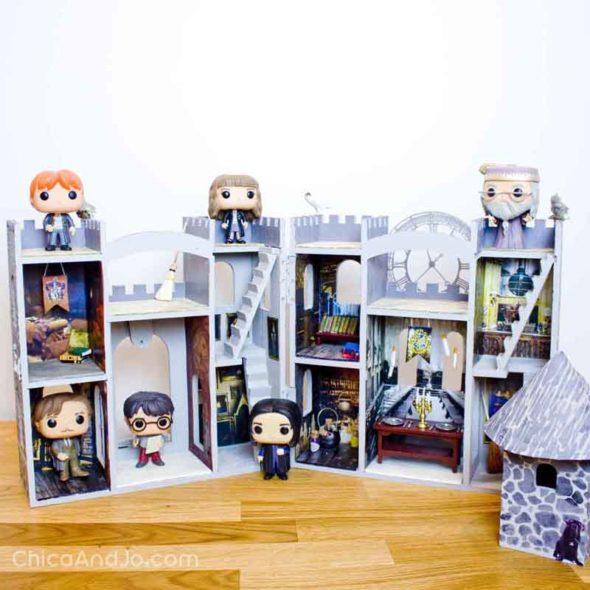 Harry Potter Funk Pop Hogwarts castle display