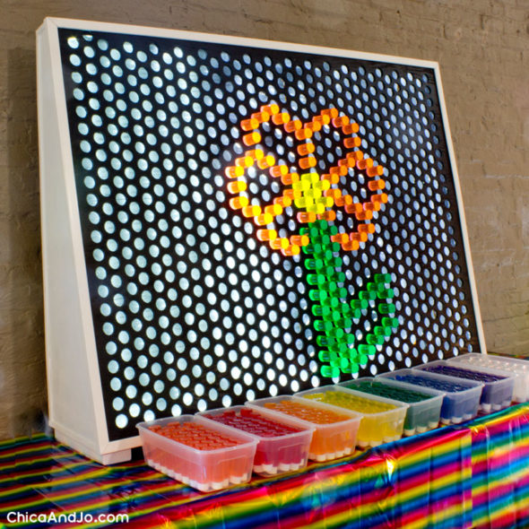 photograph relating to Printable Lite Brite Patterns known as Produce a big Lite Brite Chica and Jo