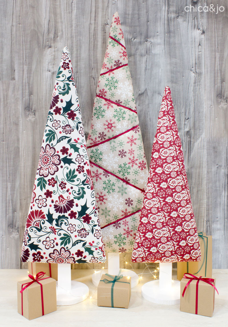 Upholstered Fabric Christmas Trees With Tufting Chica And Jo