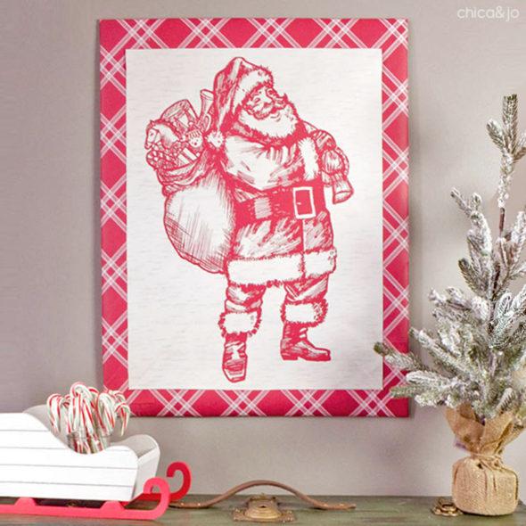 Upcycle Christmas gift bags into art