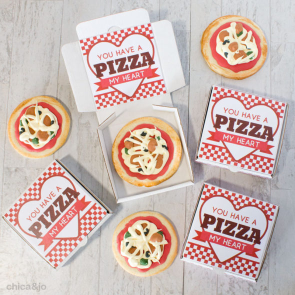Pizza Valentine s Day cookie boxes