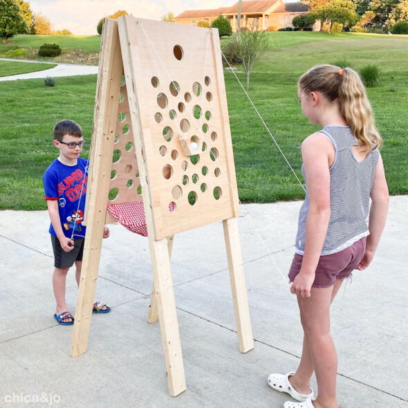 DIY wood yard game for kids