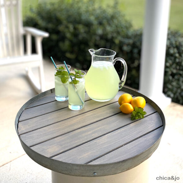 DIY bourbon barrel ring serving tray