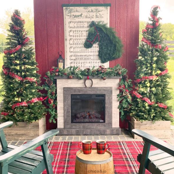 Equestrian themed Christmas decor